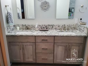 Bel Air Bathroom Remodeling Contractor new cabinets and quartz counter top
