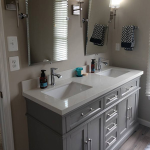 Luxury Bath Remodeling with Gray Cabinets