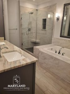 Luxury Bathroom Remodeling Project - Double His and Her Sinks and Luxury Soaking Tub