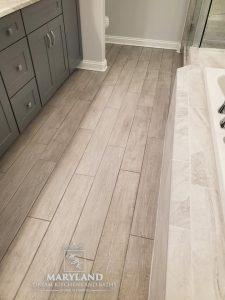 Luxury Bathroom Remodeling Project - LVT Flooring