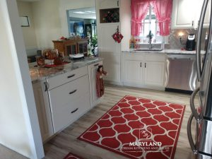Kitchen Remodeling Contractors Bright New White Cabinets and Countertops