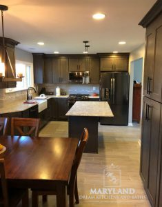 Kitchen Renovation Project Aberdeen MD Harford County new countertops, cabinets, flooring, and more
