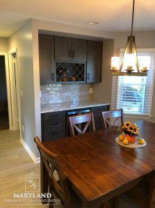 Kitchen Remodeling Project Aberdeen MD Harford County tile backsplash